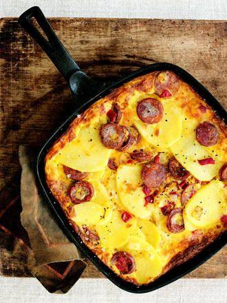 Portuguese Sausage Frittata / Tortilha de Chouriço (recipe in english)