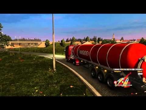 Euro Truck Simulator 2 Scania Streamline R370 Transporting Acid From Gda...