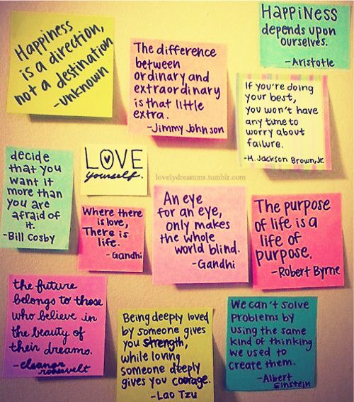 19 Best Positive Sticky Note Quotes Images On Pinterest