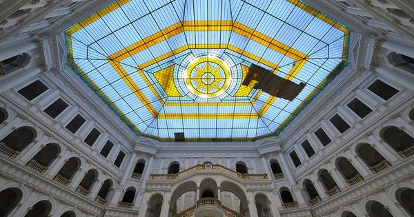 """POLITECHNIKA. The main edifice of the Technical University in Warsaw is a great example of the amazing architecture at the end of 19th century (where Warsaw was called """"Paris of the East""""). It was destroyed during ..."""