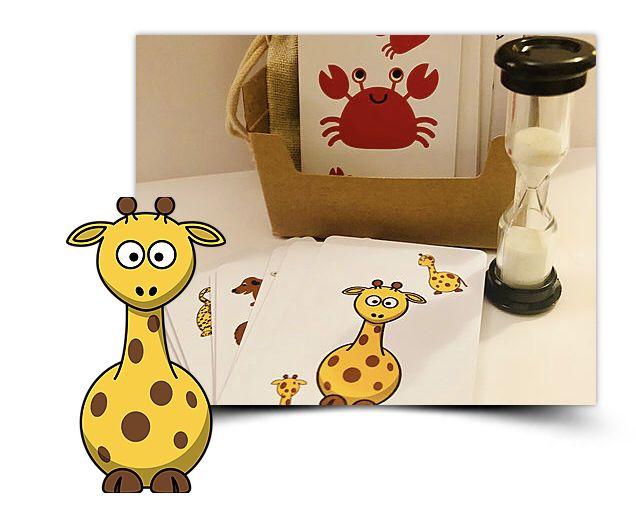 Animal yoga cards for kids, waterproof cards, 15 animal
