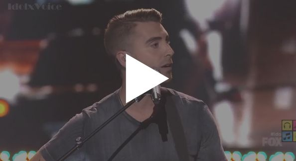 """Nick Fradiani performed his version """"Bright Lights"""" by Matchbox Twenty on American Idol Season 14 Grand Finals Part 1 on Tuesday, May 12, 2015."""