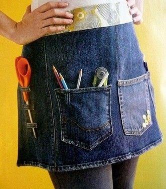 avental artesanato jeans reciclado