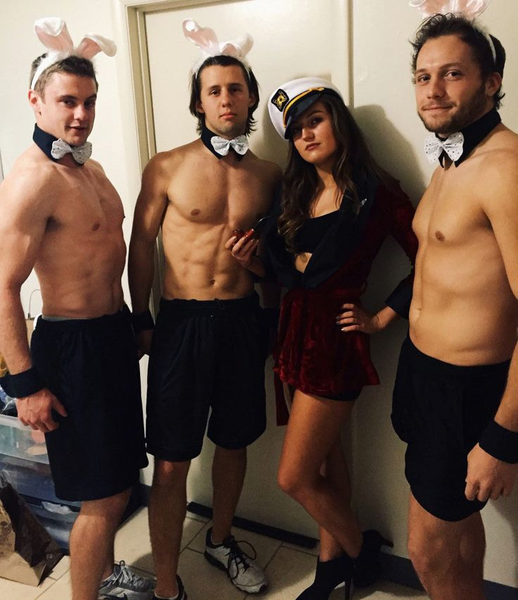 DIY Hugh Hefner Halloween Group Costume Idea 3