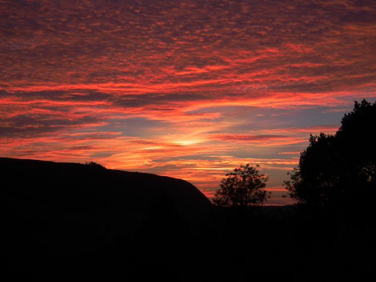 Rhandir-mwyn sunset close up, 12th August 2015