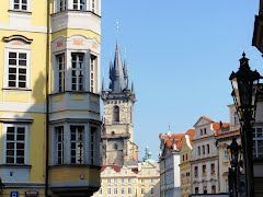 Prague - Noble palaces and Tower of St.  Nicola