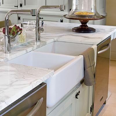 2 Bowl Farmhouse Sink : ... , Farms Sinks, Double Dishwasher, Farmhouse Sinks, Kitchen Designs