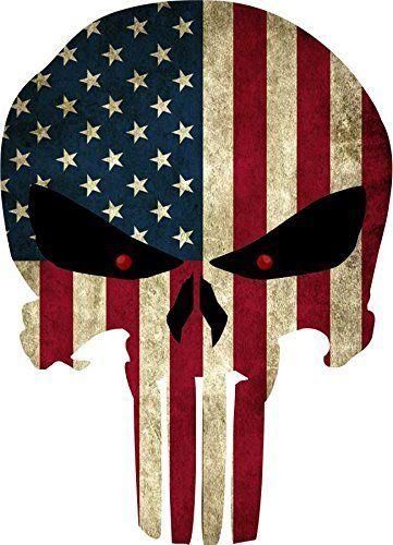 $6 - Grunge Style US Flag Punisher Skull Reflective Decal http://www.amazon.com/dp/B015UYK7UI/ref=cm_sw_r_pi_awdm_hmStwbJHY9PDW