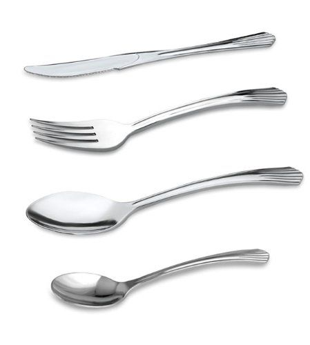 200 Sets Reflections Like Silver Plastic Silverware, Cutlery Combo Of 600 Pieces Includes 200 Forks, 200 Knives, 200 Spoons, 2015 Amazon Top Rated Plates & Cutlery #Kitchen