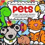 Haustiere Themenaktivitäten und Ausdrucke für Vorschule und Kindergarten – KIDSPARKZ   – preschool