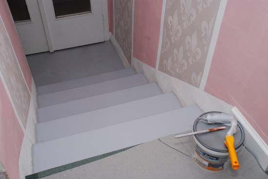 Oživte betónové schody farebným náterom - Dielňa prakticky