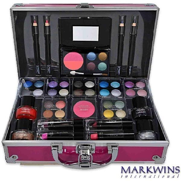 MARKWINS Bon Voyage Make Up Kit Valigetta Pink Rosa Trucco Trousse 44 pezzi SMAL
