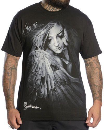 Sullen Art Collective Heaven Sent Tee Graphic Screen Print Cotton Black T-shirt #Sullen #GraphicTee