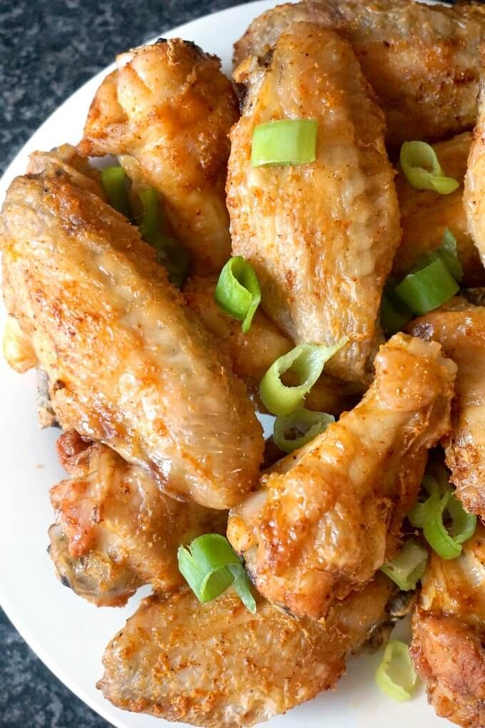 Easy Crispy Oven Baked Chicken Wings with a touch of paprika and garlic, a fanta…