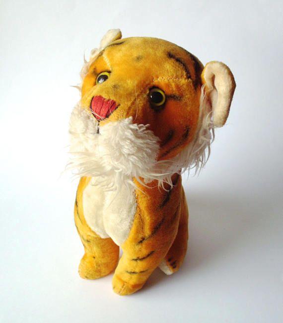 Vintage Stuffed Tiger R. Dakin & Co. San Francisco Calif
