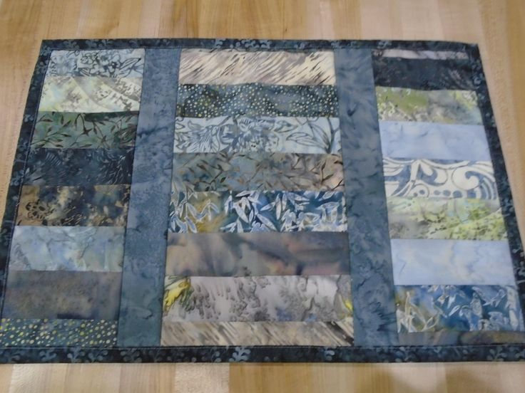 Placemats,Handmade Placemats,Set of 4 Placemats,Batik Placemats,Quilted Placemats,Blue Placemats,Gray Placemats,Gray Kitchen Placemats by SweetSusieMarie on Etsy