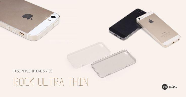 Husa ROCK Ultra Thin va pune in valoare designul deosebit al smartphone-ului iPhone 5 / 5S.