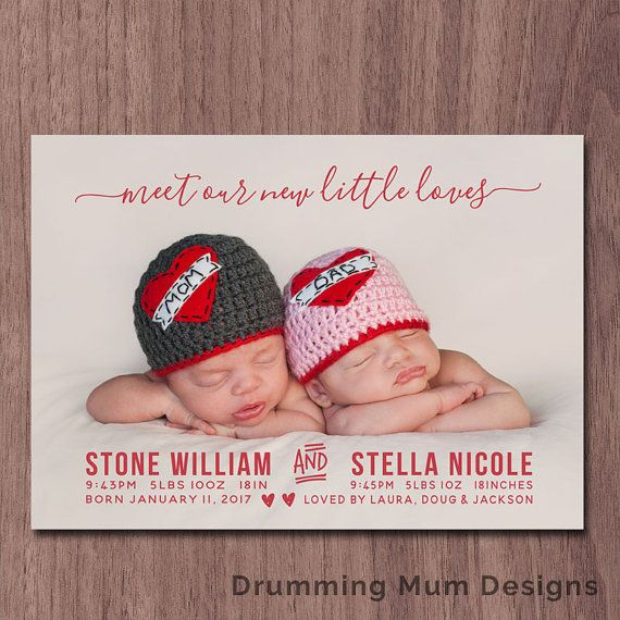 1000 images about Baby Birth Announcement – Valentine Birth Announcement