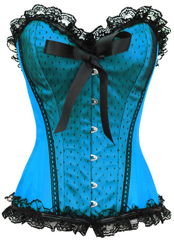 Cute and sassy pinup corset, worthy of any Vixen! The Violet Vixen - Pinup Doll Sky Blue Corset, $99.00 (http://thevioletvixen.com/corsets/pinup-doll-sky-blue-corset/) authentic waist trainer steel boned satin lace plus size corset pinup burlesque rockabilly
