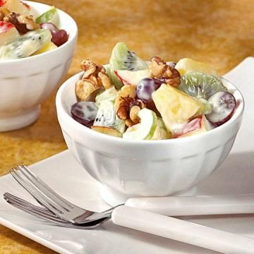 Lightened Waldorf Salad:  It seems nearly impossible to improve upon the beloved Waldorf, but we believe we have done just that. Using lemon yogurt and honey as sweeteners, we lightened this classic and made it diabetes-friendly. Enjoy!