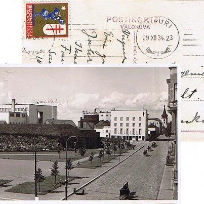 Postcard from Viipuri, Finland,1934