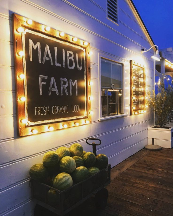 Malibu Farm Restaurant and Cafe on the Malibu Pier California