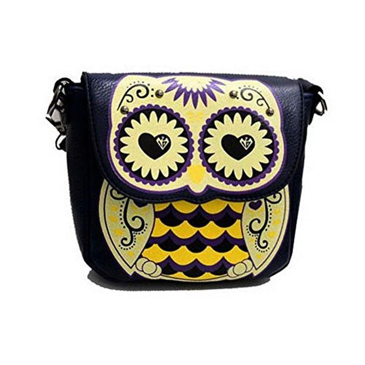 Color Scissor Womens Cartoon Owl Handbag Crossbody Clutch Purse Satchel Shoulder Bag
