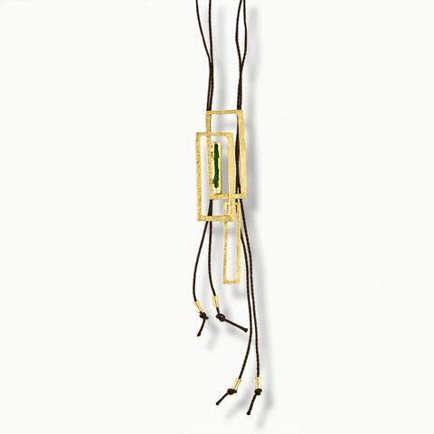 Handmade Bronze Enamel Long Necklace (Colors)