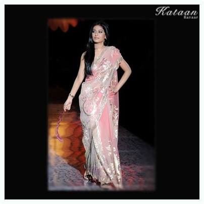 #Amrita Rao in a Pink saree