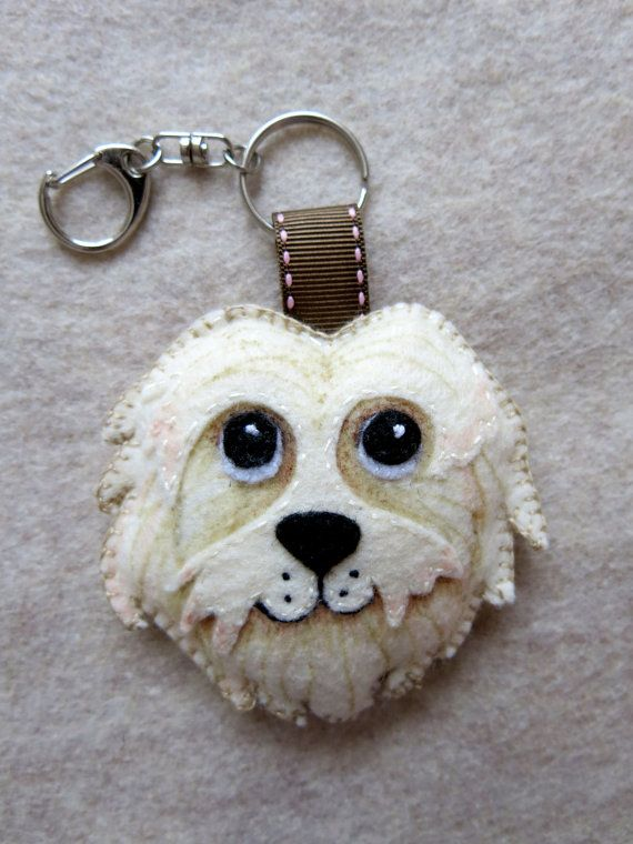 DOG customized keyring ornament or magnet / Lilolimon
