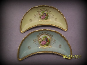 Lefton China Handpainted Victorian Scene, Vintage.