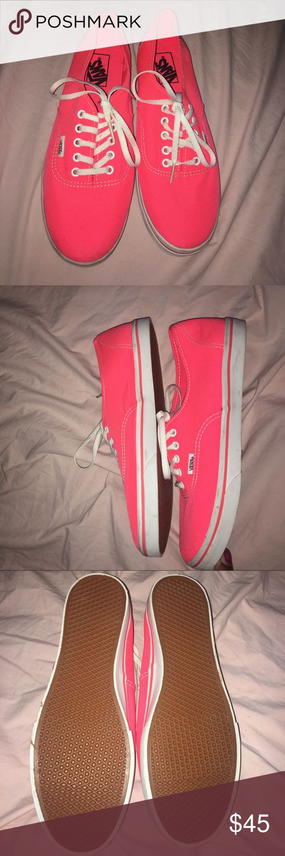 Coral Vans New Never Worn Van Shoes. Has been in my closet for a year and I haven't touched it. Give me a offer or just buy it! Either way you'll be happy you bought this shoe! Vans Shoes Sneakers