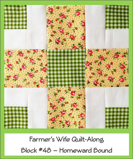 Farmers Wife Quilt-a-Long #48 - Homeward Bound by Ellie@CraftSewCreate, via Flickr