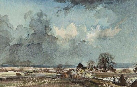 Near Faversham, Kent by Rowland Hilder