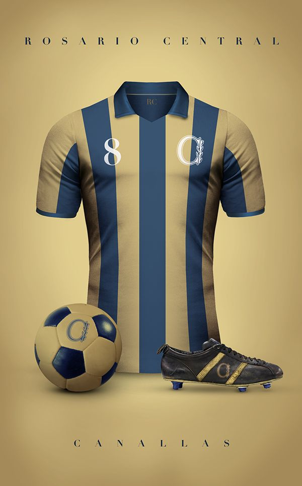 Vintage Clubs II on Behance - Emilio Sansolini - Graphic Design Poster - Rosario Central - Canallas