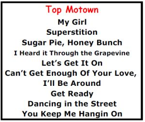 Top Karaoke Songs - Best Motown Karaoke Songs - http://allpartystarz.com/pa-dj/lancaster-karaoke-dj/top-karaoke-songs/top-karaoke-songs-best-motown-karaoke-songs.html