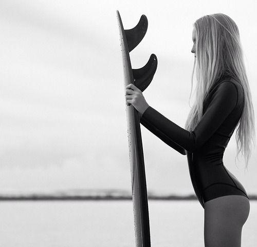 sea sun sand sport sporty girl long hair blonde swimsuit swimming #surf #surfing