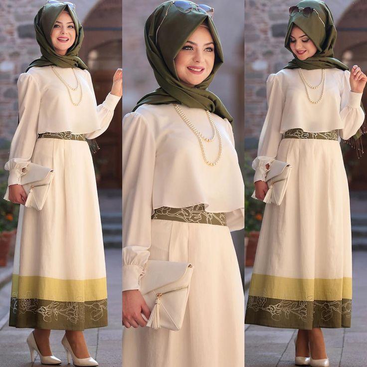 Hayat Eteklerimizin yeşili stoklarda tekrar ☺️ @moda_huzur  profilinden sipariş verebilirsiniz. #pınarşems #hayatetek #hijab #hijabi #hijabfashion