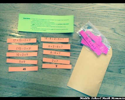 Order of Operations Sequencing