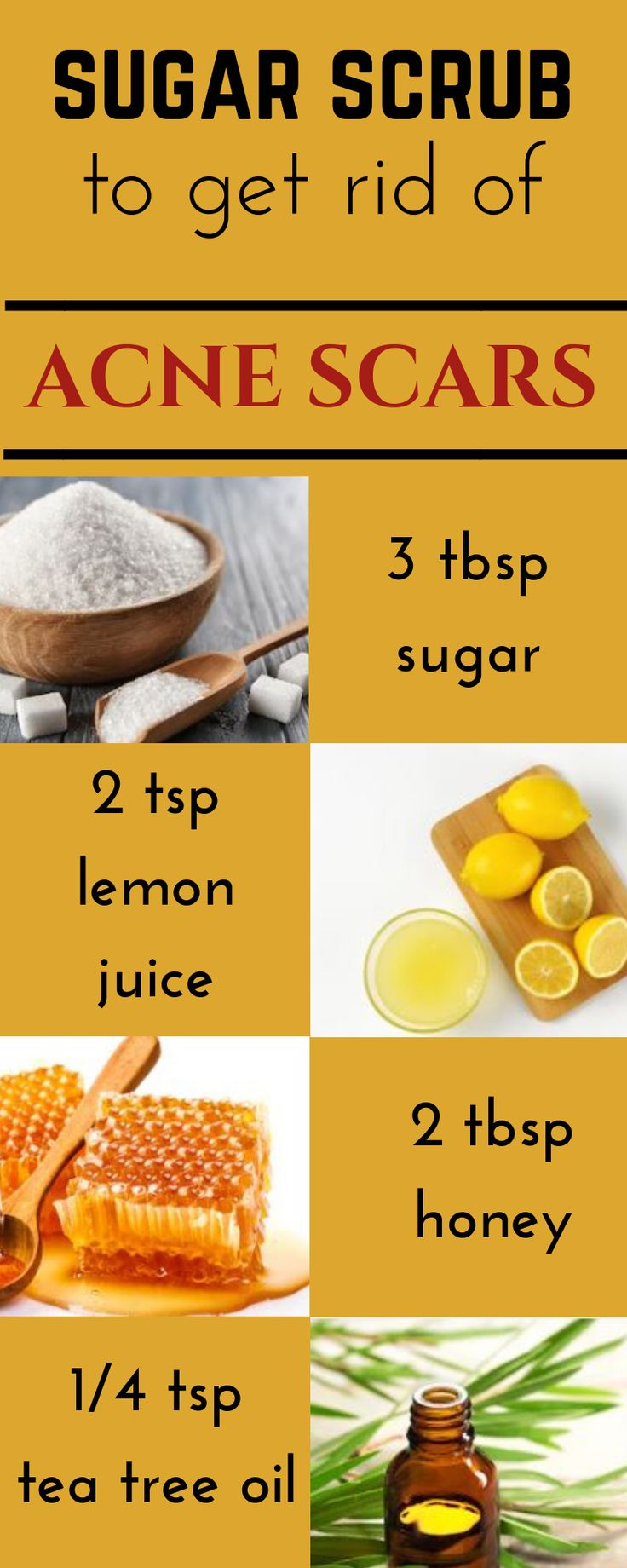 Amazing DIY sugar scrub to get rid of acne scars at homeCathy Beauty Tips Weight Loss
