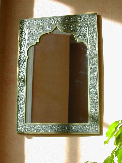 Large Moroccan brass mirror with traditional design. http://www.maroque.co.uk/showitem.aspx?id=ENT00190&s=10-20-012