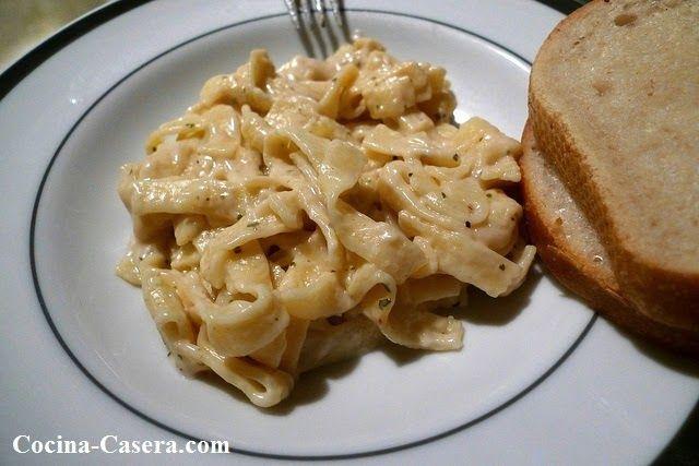 Tallarines al huevo con Salsa Fettuccine  | #Gastronomía