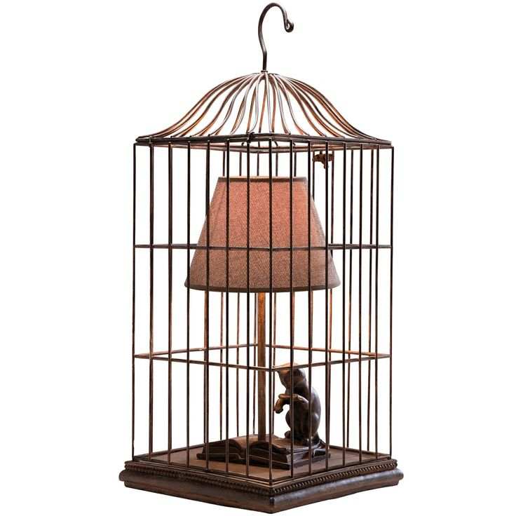 cat in a cage table lamp by the french bedroom company