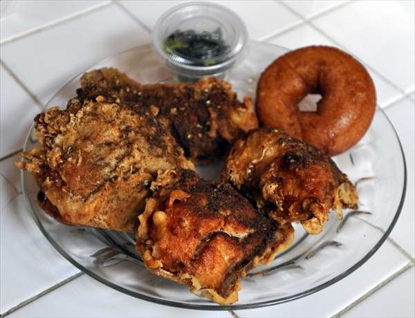 Za'atar Chicken + Honey Donut -- Federal Donuts -- 1219 S 2nd St., Philadelphia, PA 19147; 1632 Sansom St., Philadelphia, PA 19103