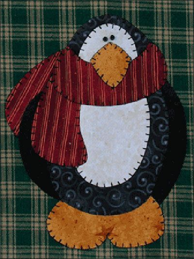 Penguin Applique He can grace a towel, oven mitt, apron, table runner, stocking, anything!