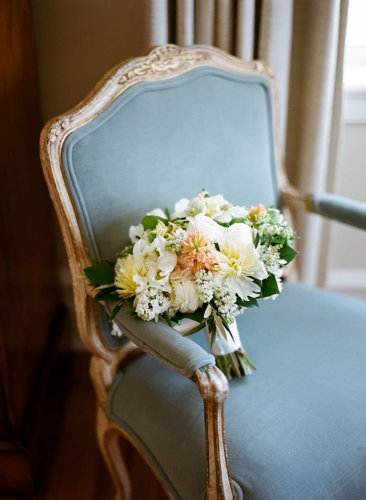 Pastel Dahlia, Lilac and Hyacinth Bridal Bouquet