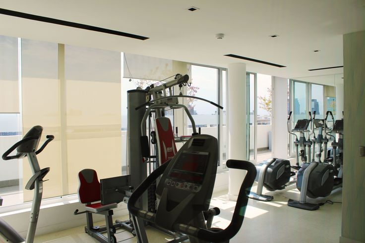 gym  of the apartment we rent in Santiago de Chile www.internshipandtravel.cl o mail a info@internshipandtravel.cl