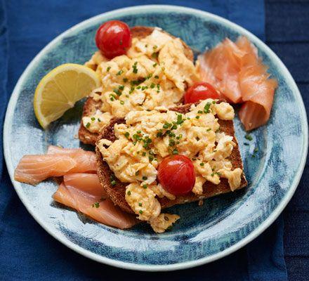 Bloody Mary scrambled eggs & smoked salmon