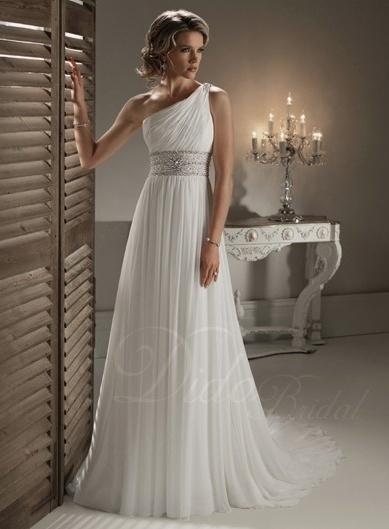 One-shoulder wedding dresses | Wedding dress, Shoulder and Weddings