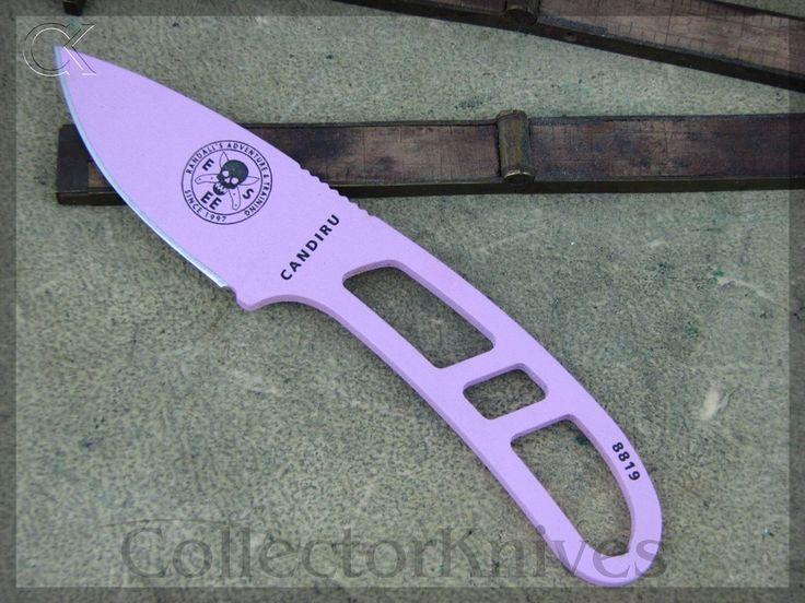 CollectorKnives - ESEE Candiru Neck Knife, Pink Handles, 1095 steel, $45.38 (http://www.collectorknives.net/esee-candiru-neck-knife-pink-handles-1095-steel/)